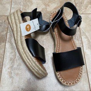 NEW Target Espadrille Wedge Platform Sandals 9.5